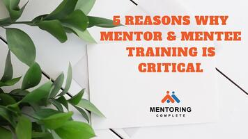 5 Reasons Why mentor & mentee training is critical (1)