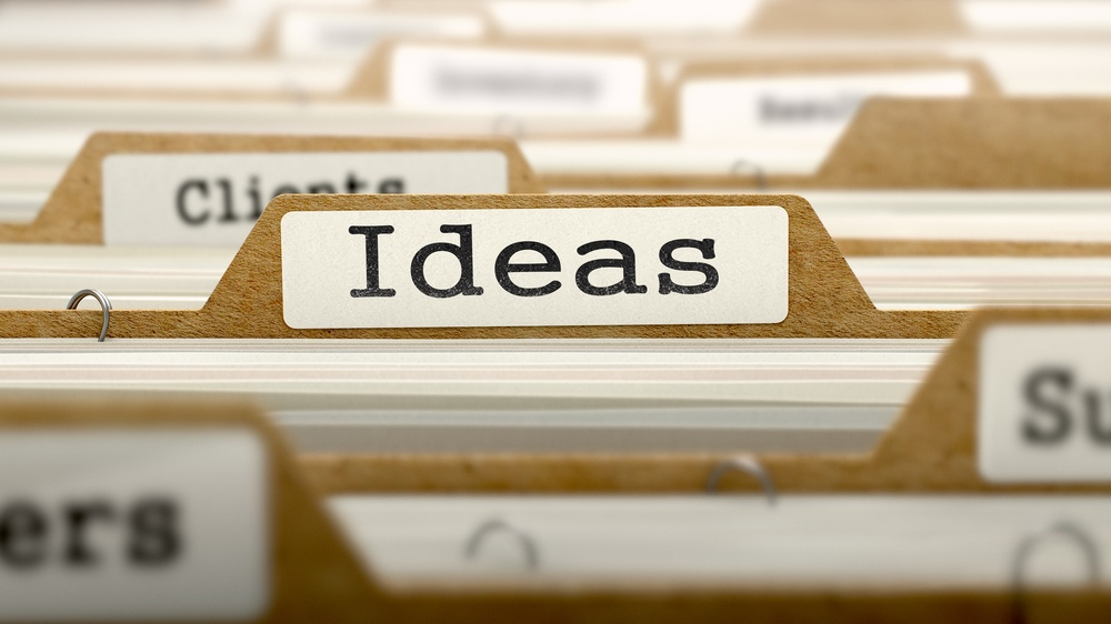 Ideas Concept. Word on Folder Register of Card Index. Selective Focus.